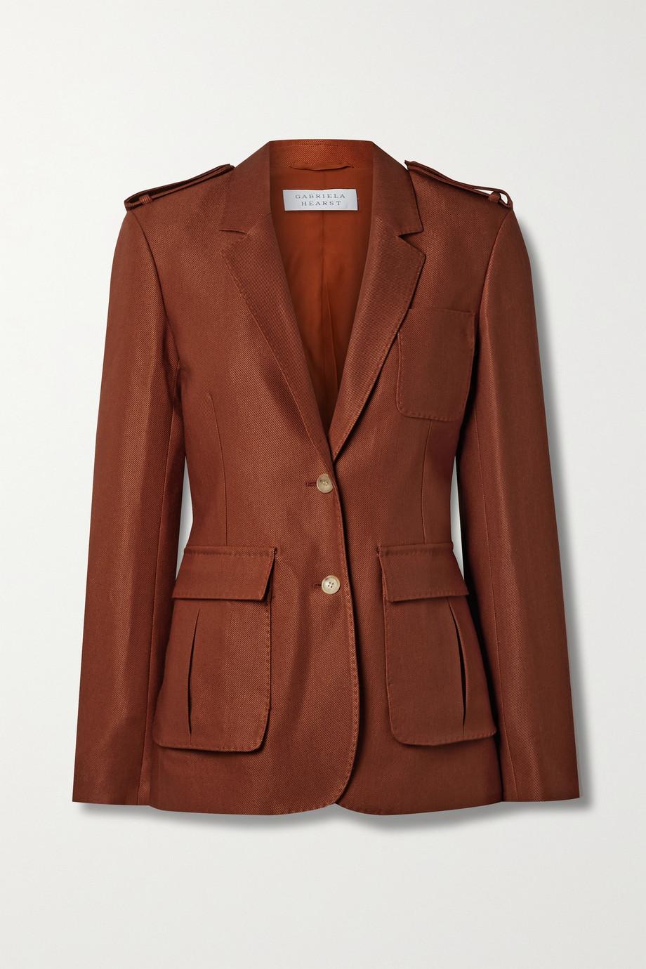 Gabriela Hearst Louisa wool and silk-blend twill blazer