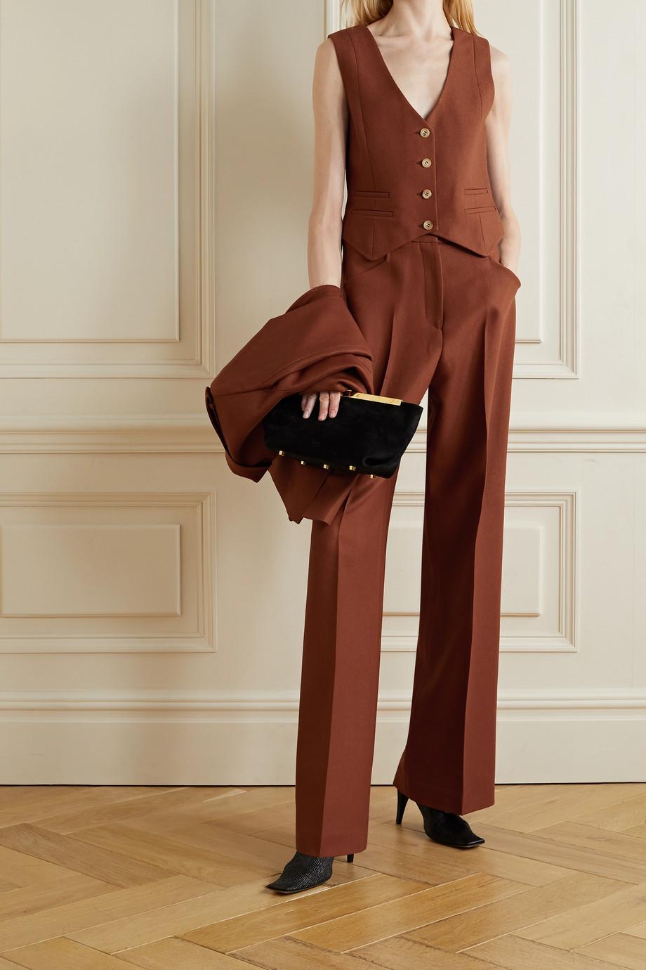 Gabriela Hearst Zelos wool and silk-blend twill vest