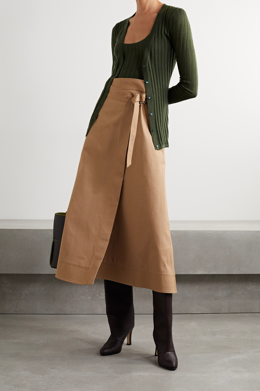 Gabriela Hearst Homer pointelle-knit cashmere and silk-blend cardigan