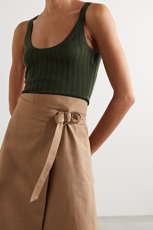 Gabriela Hearst Nevin pointelle-knit cashmere and silk-blend tank
