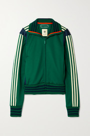 adidas Originals + Wales Bonner Lovers Rock ribbed-knit and crochet-trimmed tech-jersey track jacket