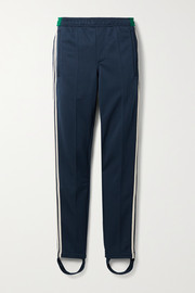 adidas Originals + Wales Bonner Lovers Rock crochet-trimmed tech-jersey slim-leg stirrup pants