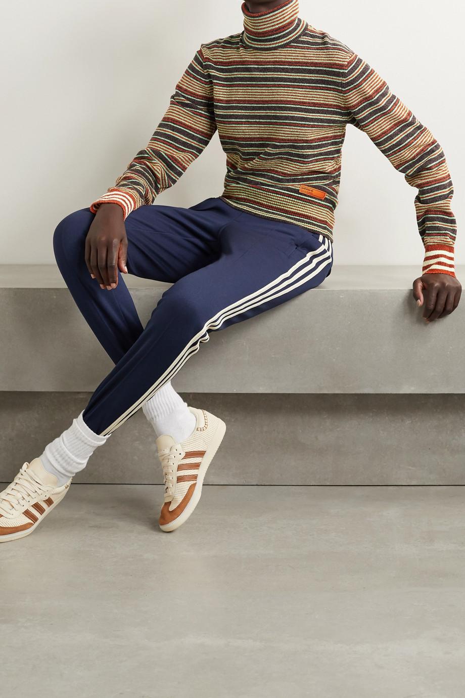adidas Originals x Wales Bonner 条纹雪尼尔面料高领毛衣