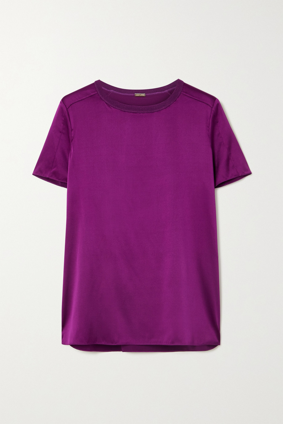 Adam Lippes Stretch-silk charmeuse T-shirt
