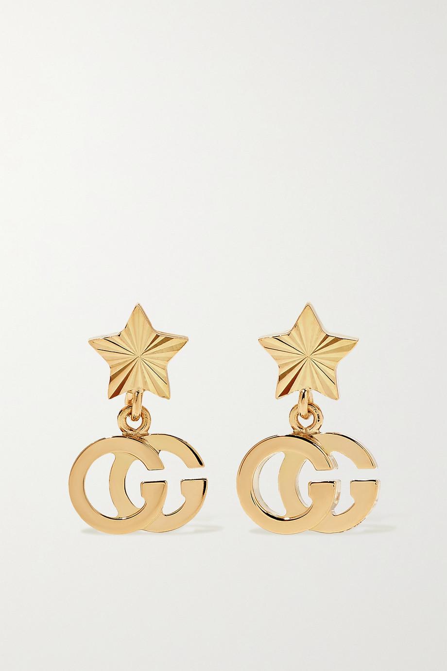 Gucci GG Running 18-karat gold earrings