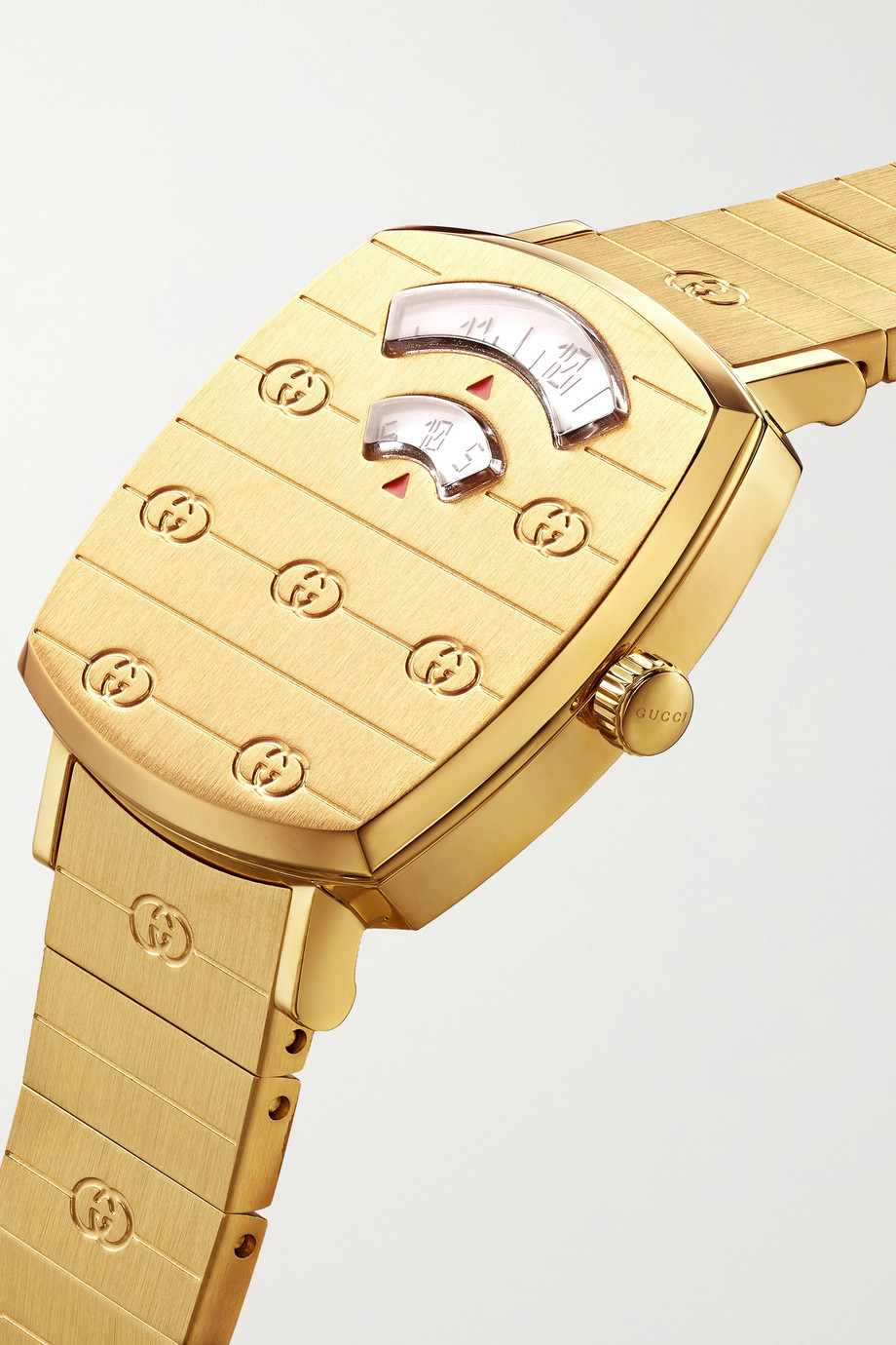 Gucci Grip 27mm gold PVD-plated stainless steel watch