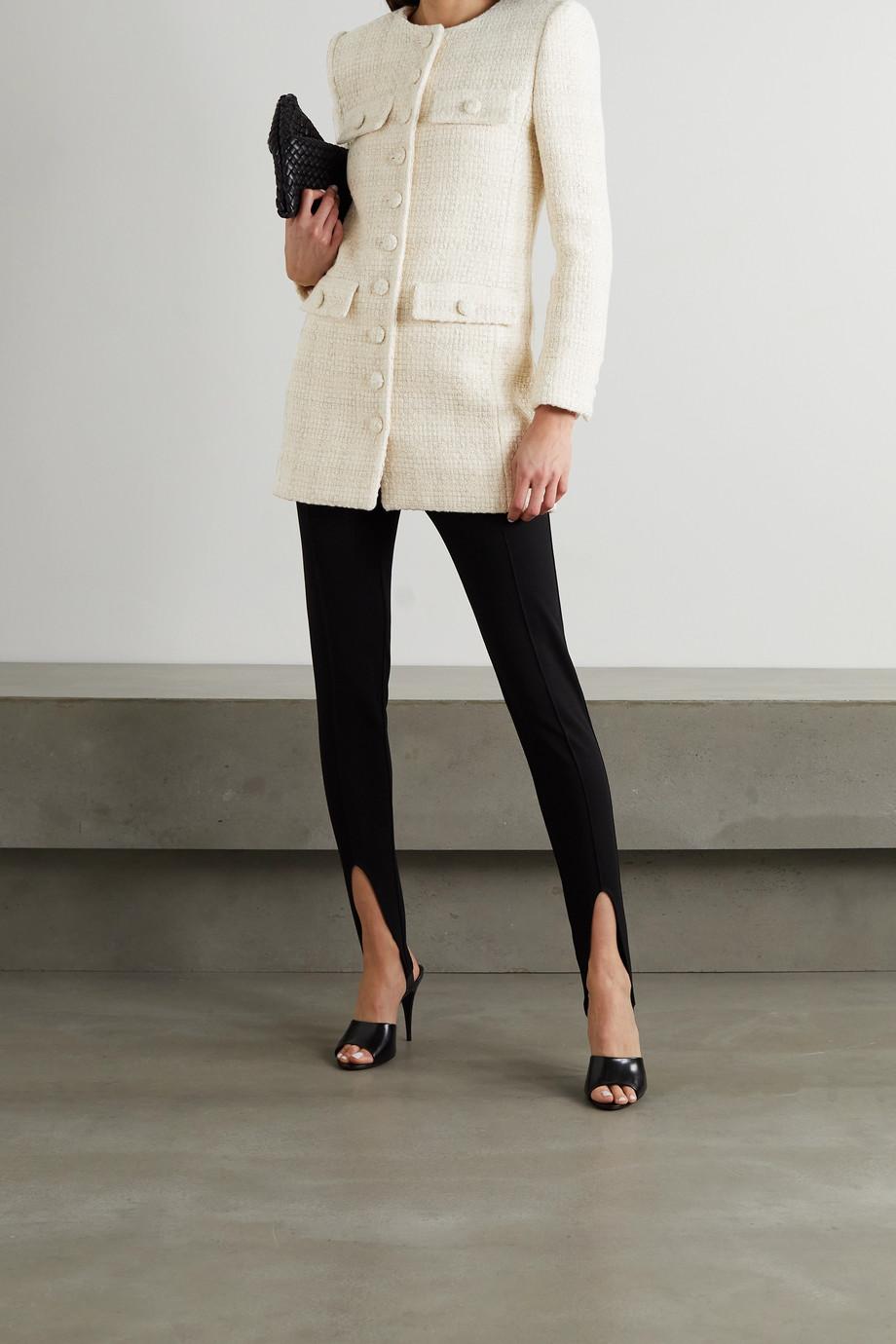 SAINT LAURENT Tweed-Mantel aus einer Wollmischung