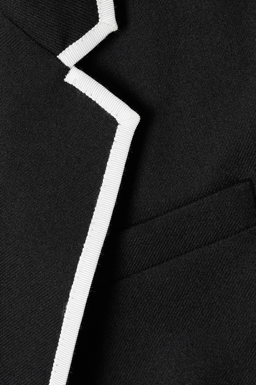 SAINT LAURENT Piped wool blazer