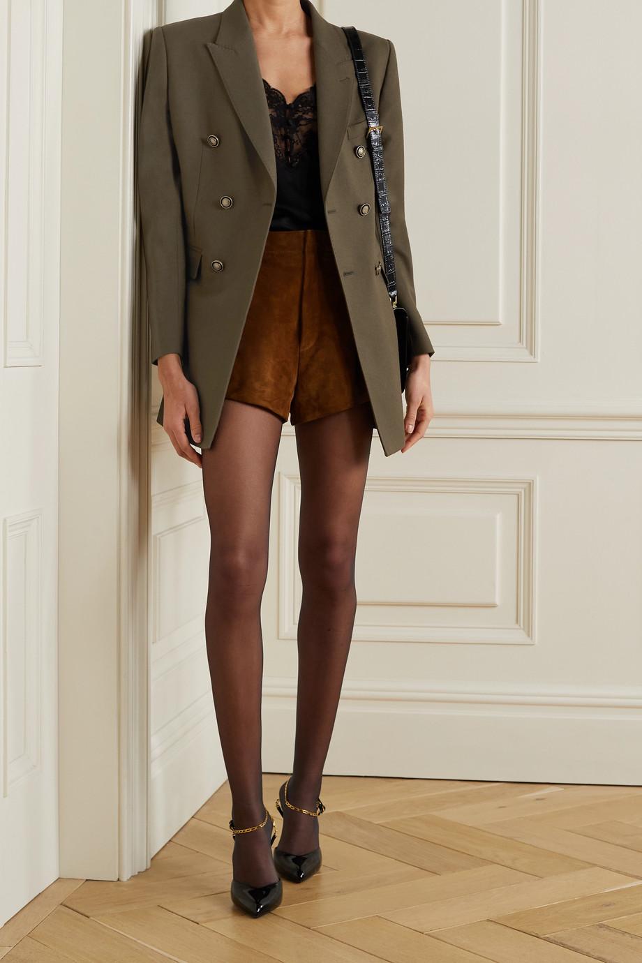 SAINT LAURENT Double-breasted wool blazer