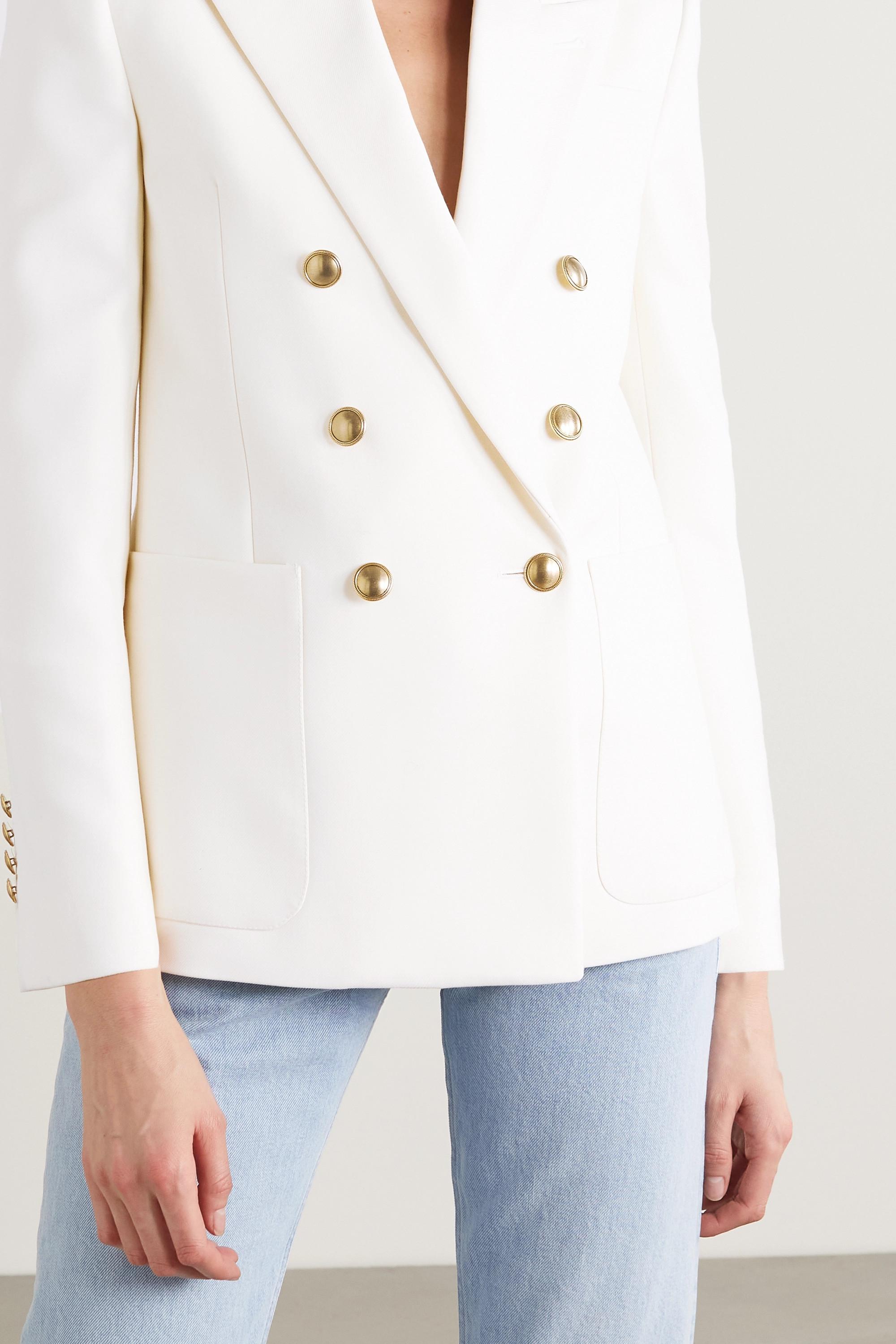 SAINT LAURENT Double-breasted virgin wool blazer