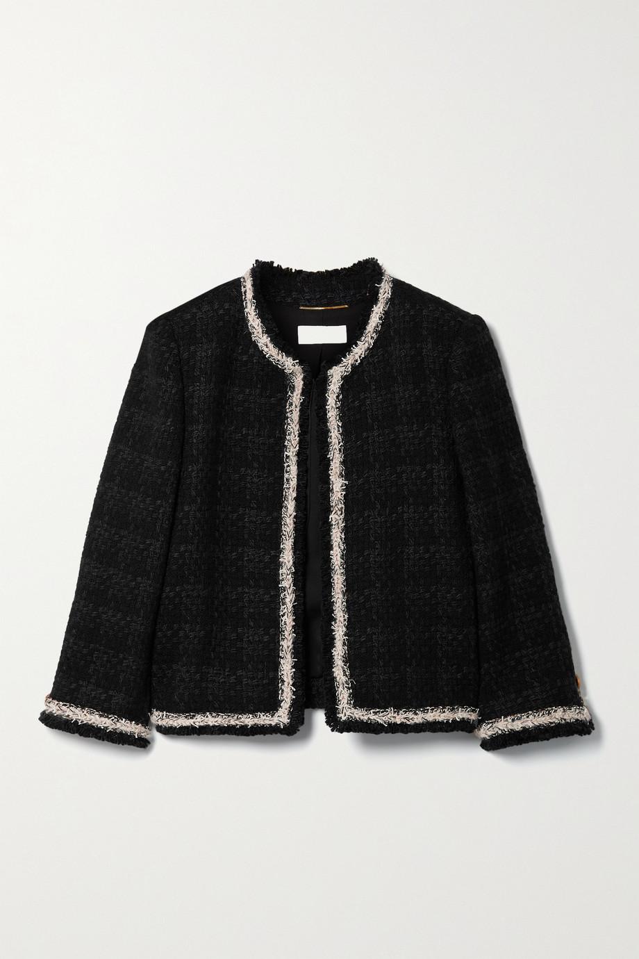 SAINT LAURENT Checked wool-blend tweed jacket