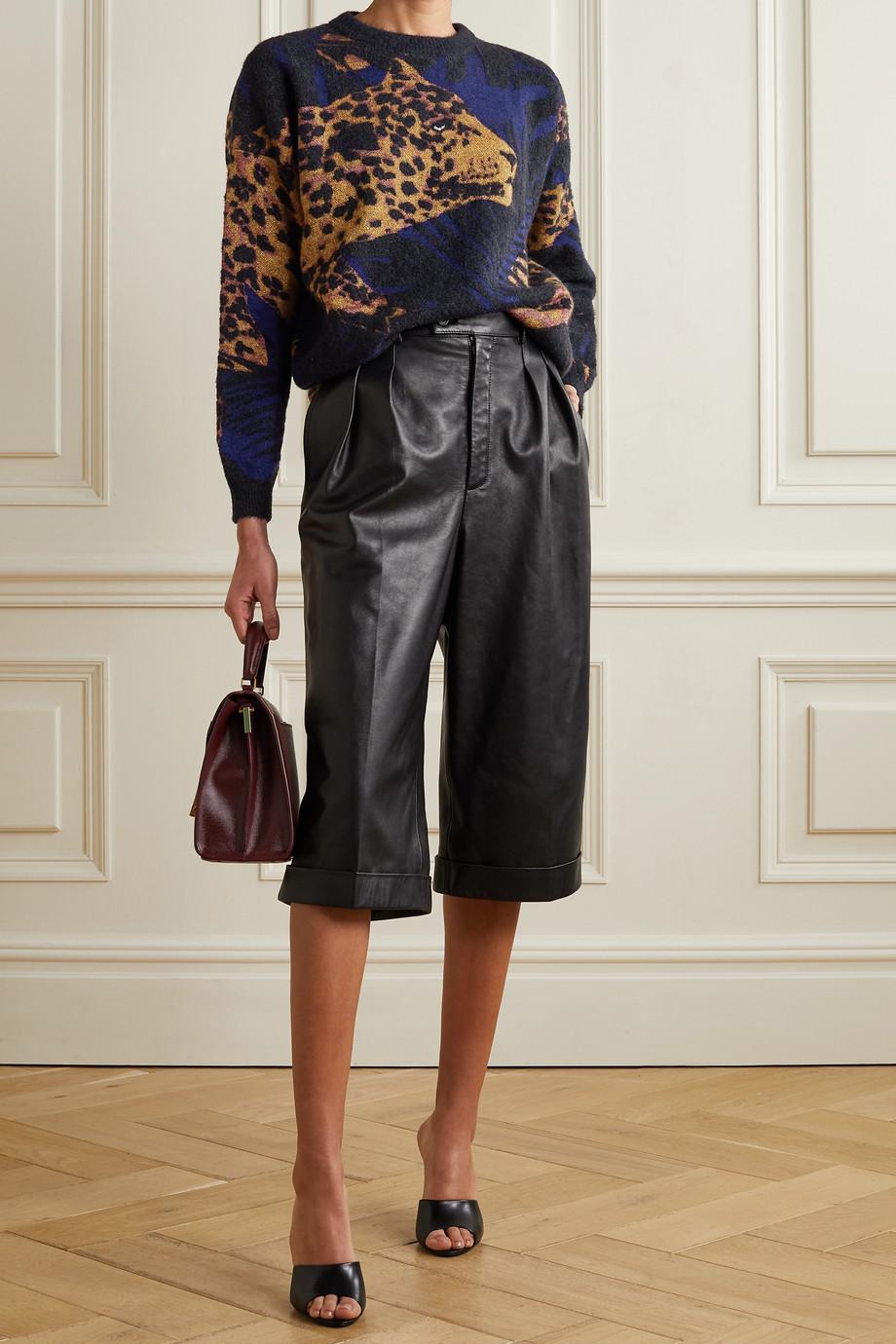 SAINT LAURENT Pullover aus Jacquard-Strick in Metallic-Optik
