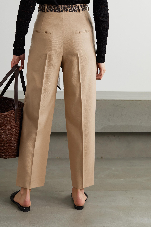 SAINT LAURENT Hose mit geradem Bein aus Wollgabardine mit Bindegürtel