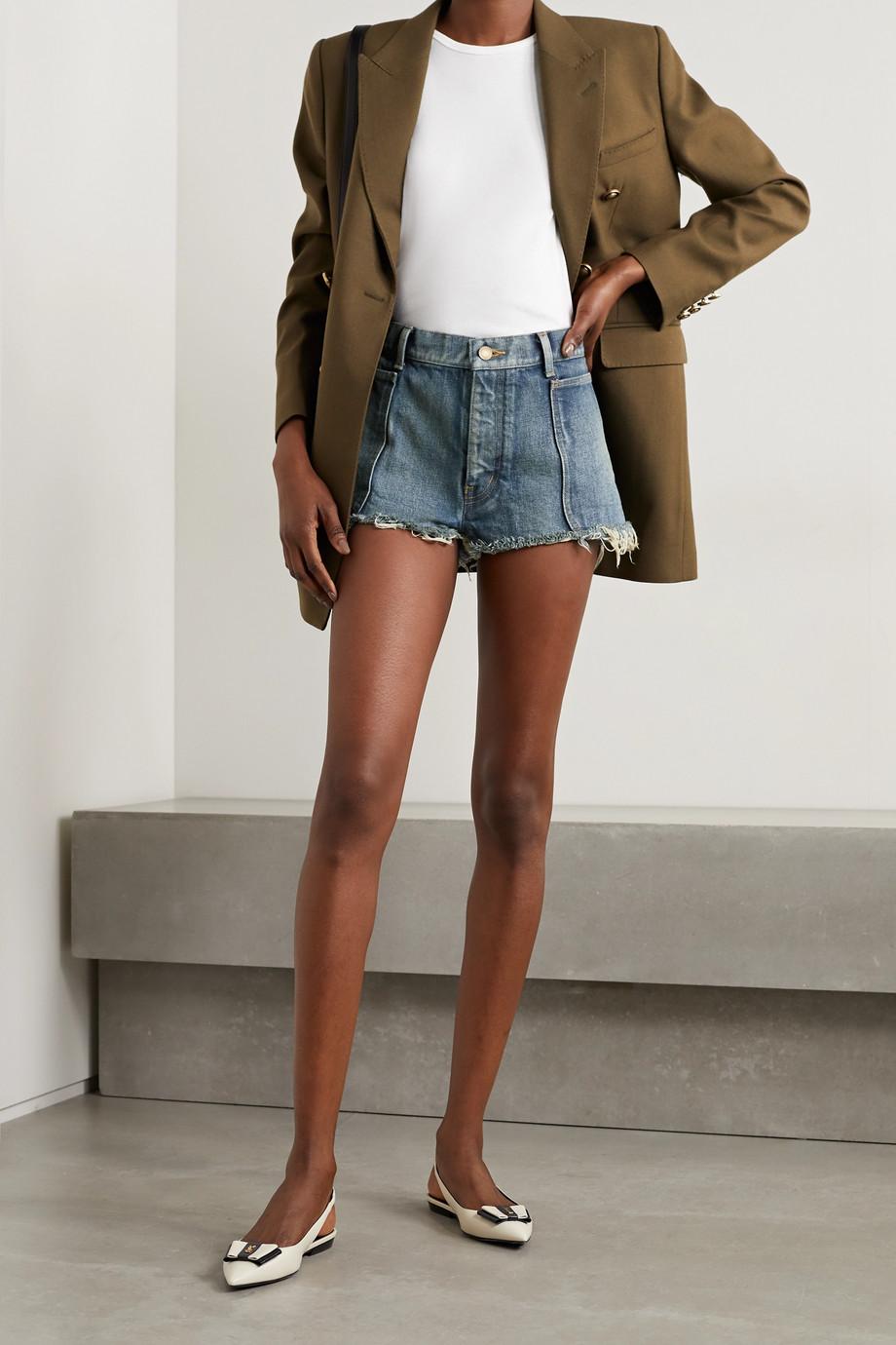 SAINT LAURENT Short en jean effilé
