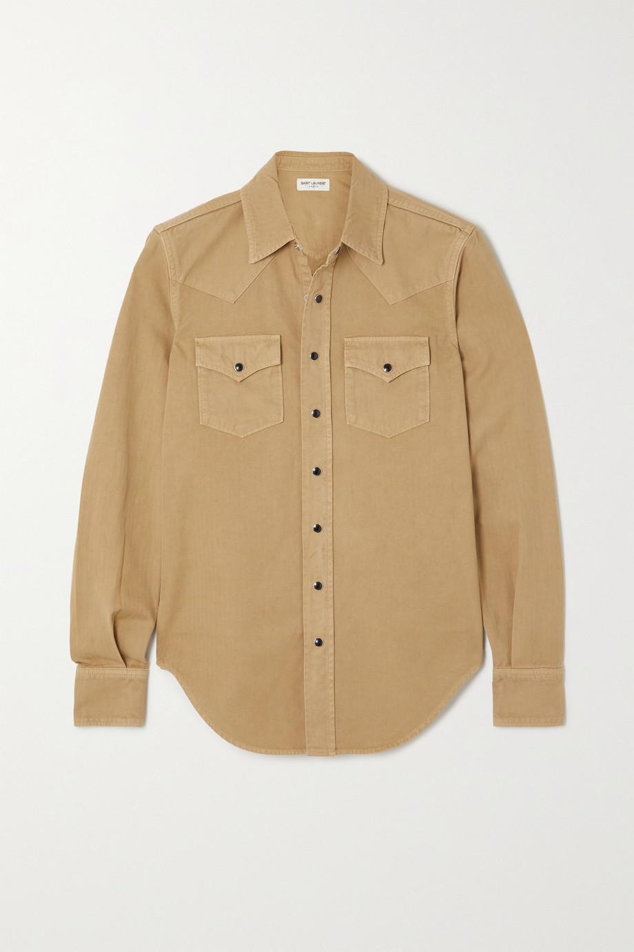 SAINT LAURENT Herringbone cotton shirt
