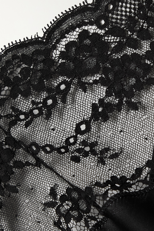 SAINT LAURENT Lace and silk-satin camisole