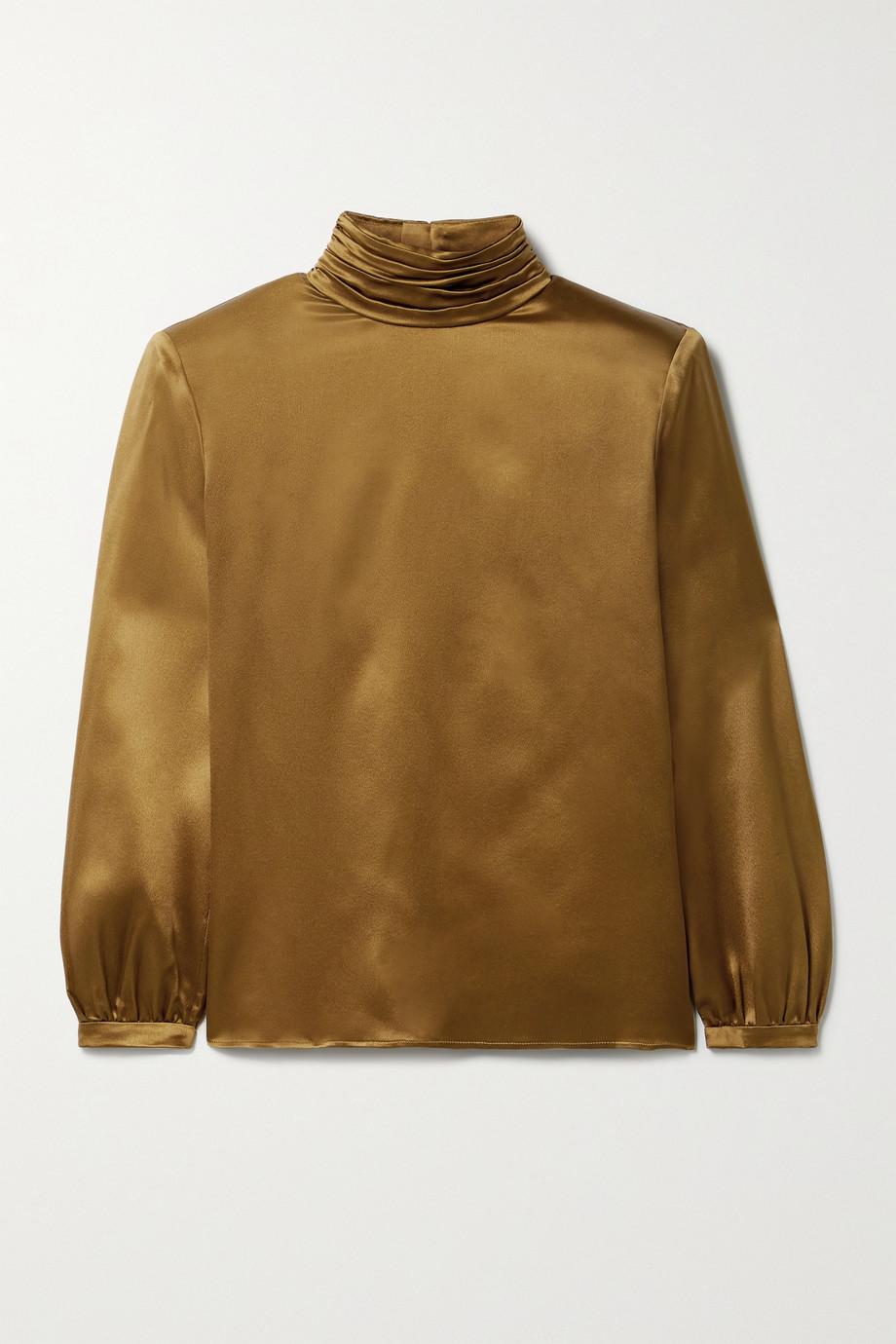 SAINT LAURENT Silk-satin blouse