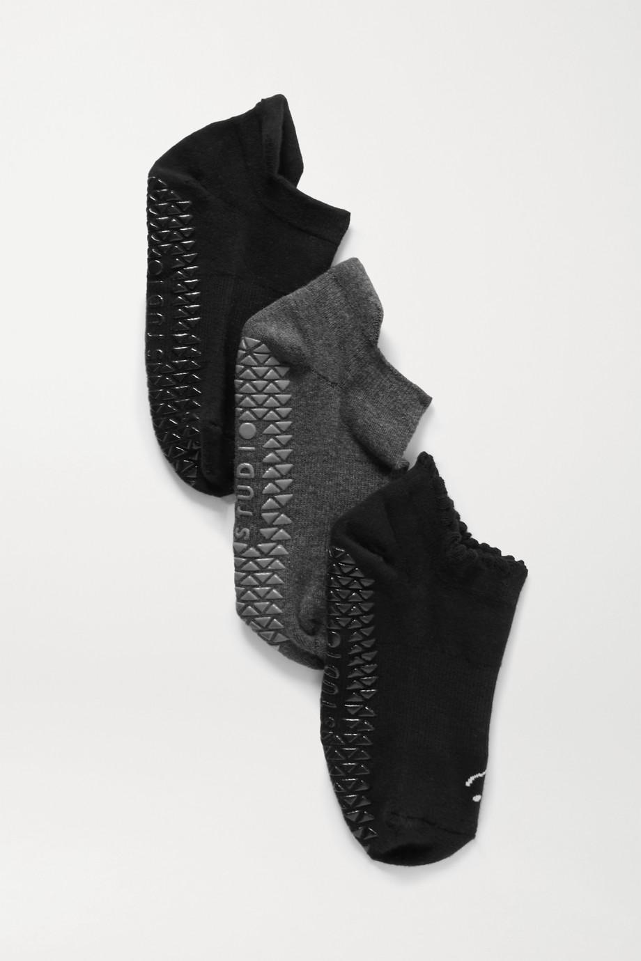 POINTE STUDIO Core Studio Set aus drei Paar Socken aus einer Baumwollmischung