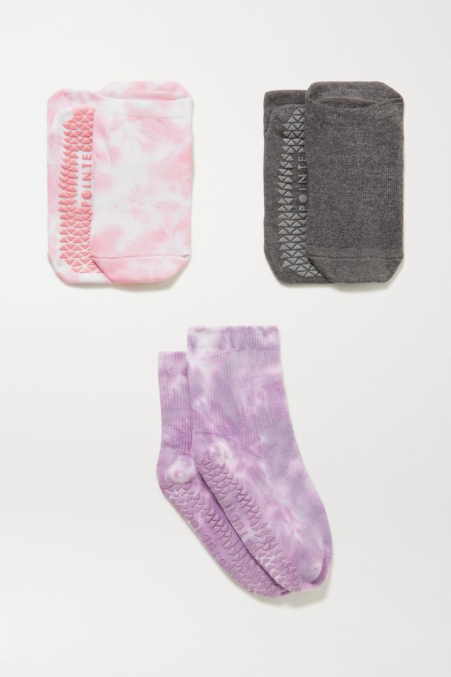 POINTE STUDIO Fashion Studio set of three cotton-blend socks