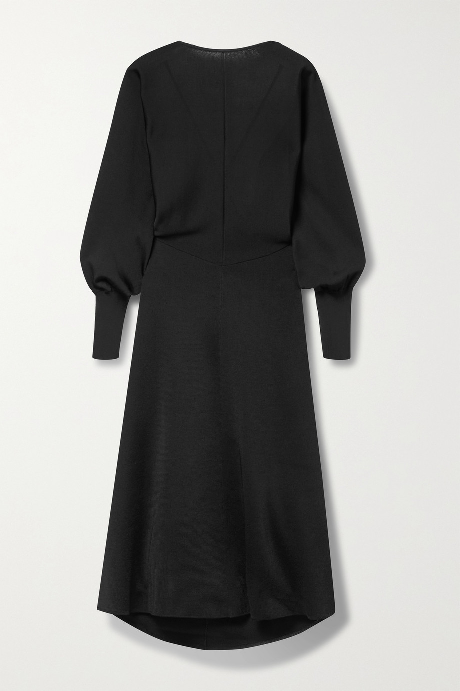Victoria Beckham Open-back stretch-knit midi dress