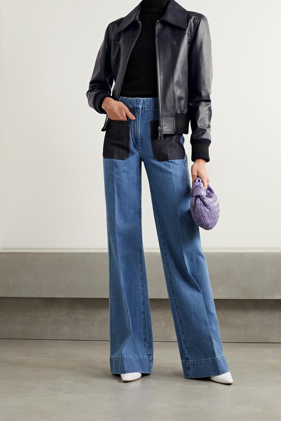 Victoria Beckham Leather bomber jacket