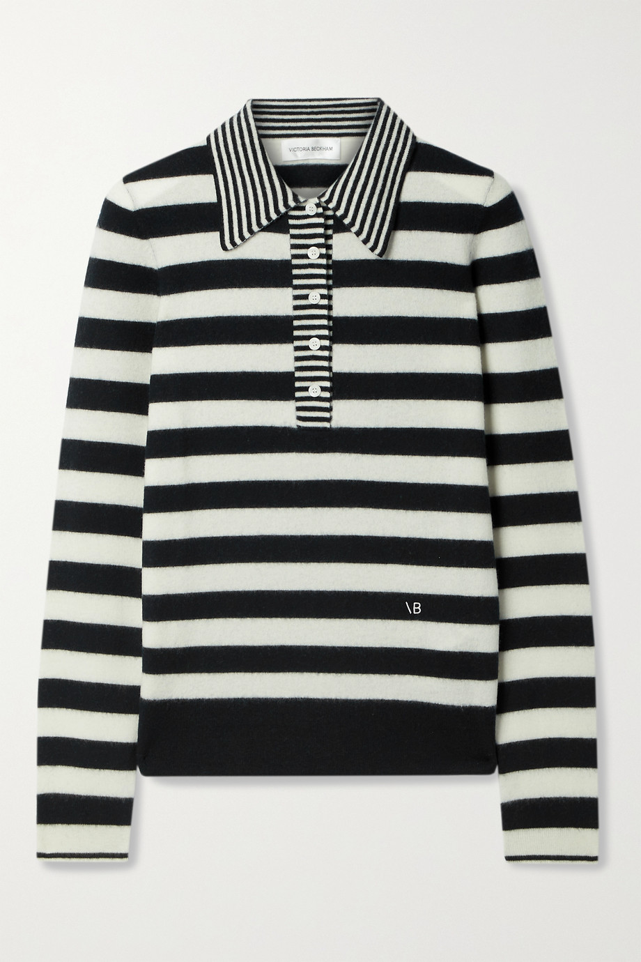 Victoria Beckham Striped wool and cashmere-blend sweater