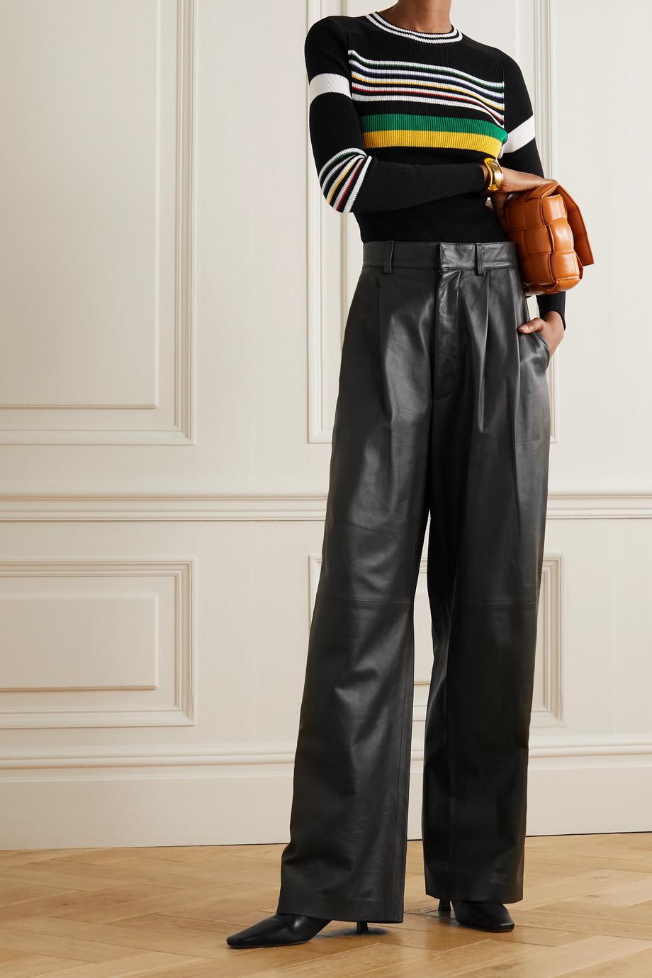 Victoria Beckham Pull en coton mélangé à rayures