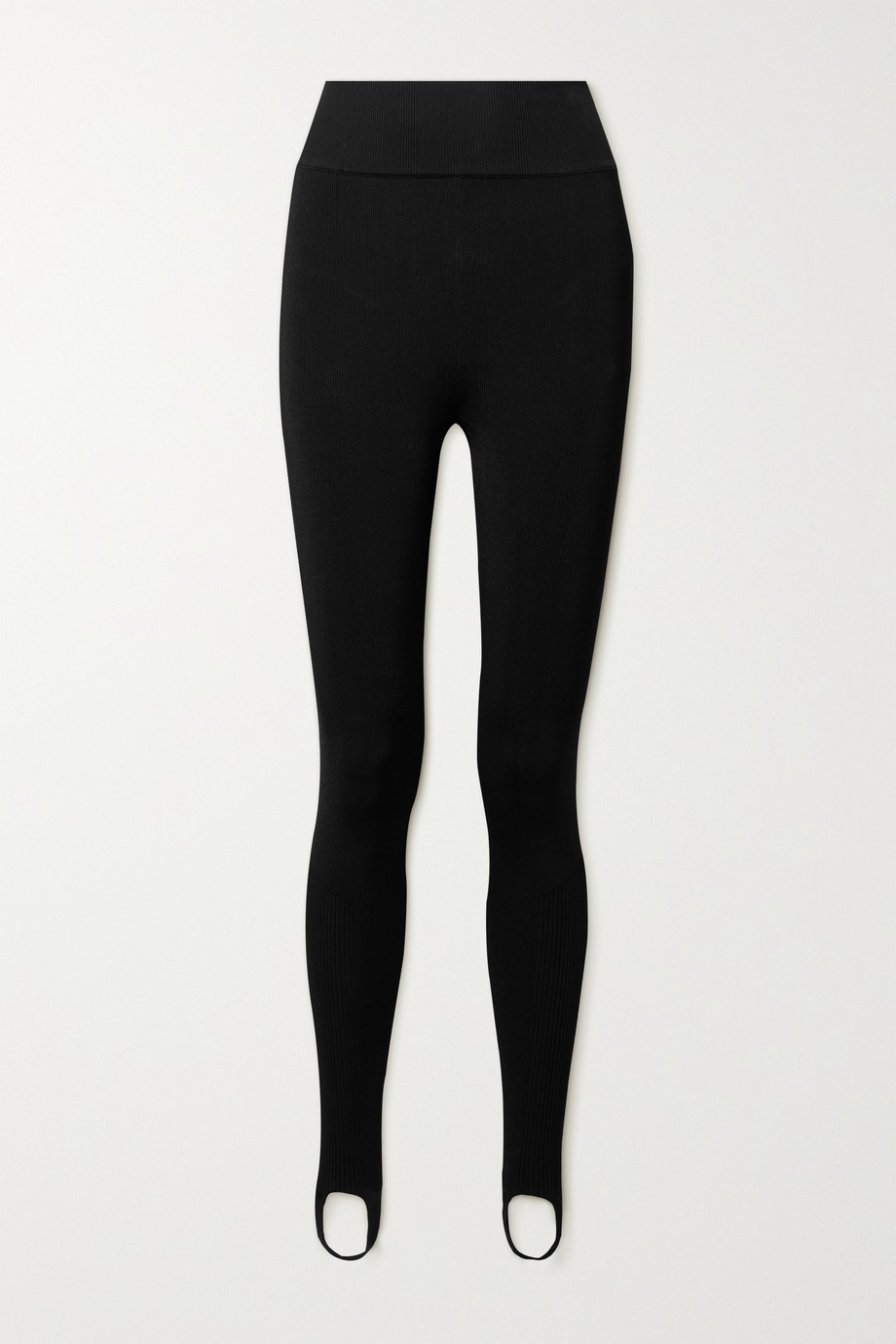 Victoria Beckham Leggings aus Stretch-Strick mit Steg