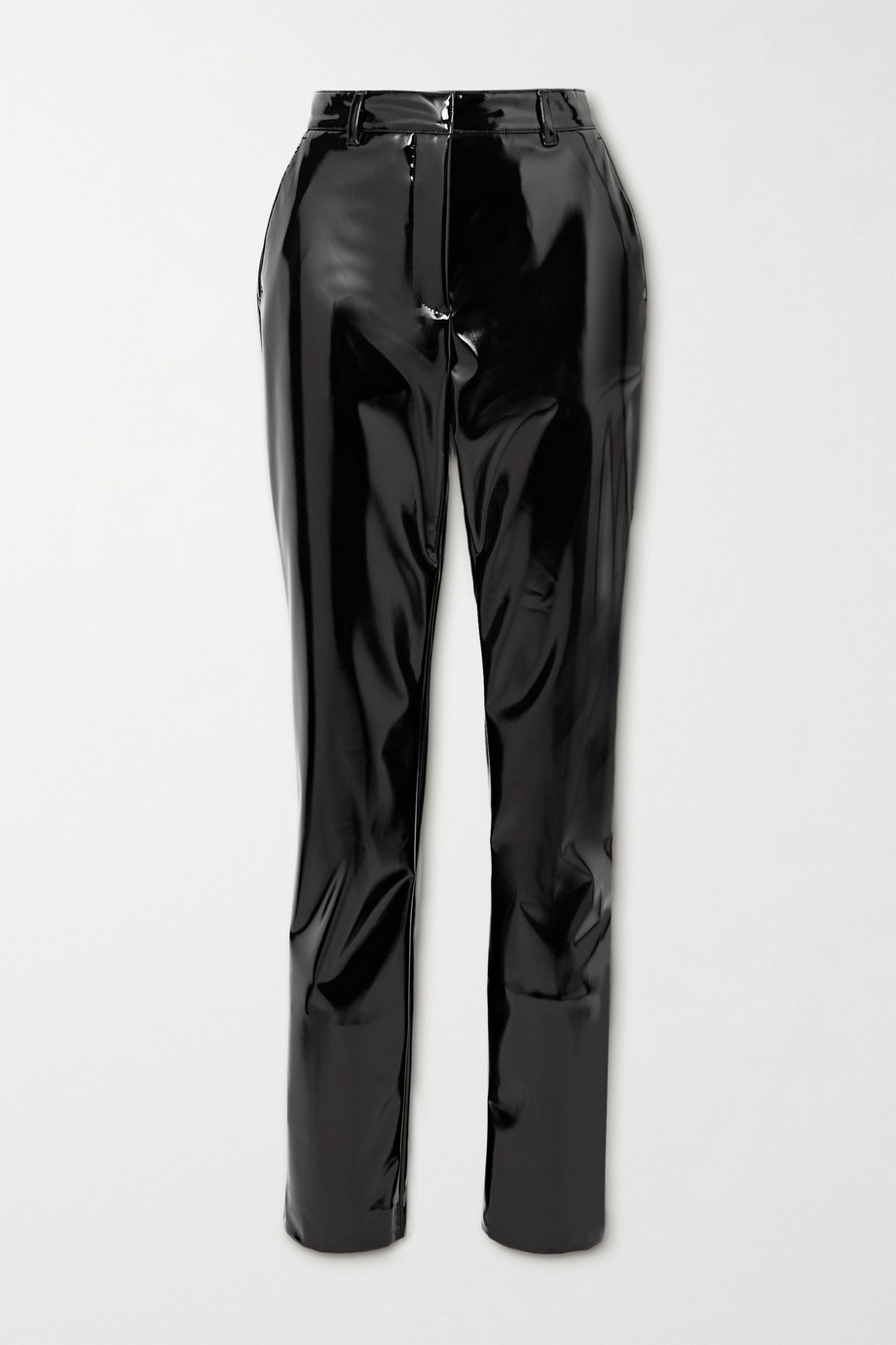 Victoria Beckham Faux patent-leather slim-leg pants