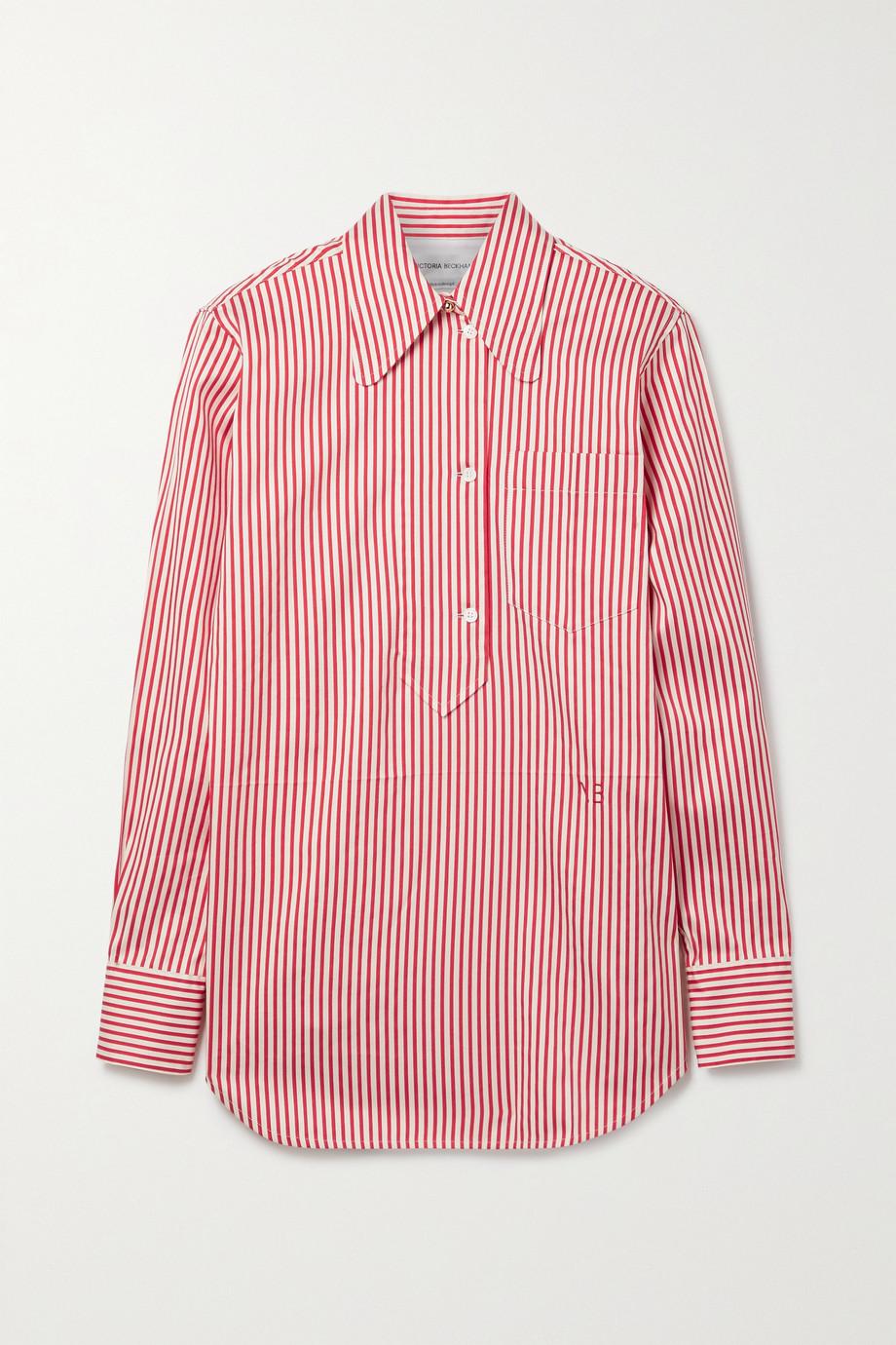 Victoria Beckham 条纹棉丝混纺牛津纺衬衫