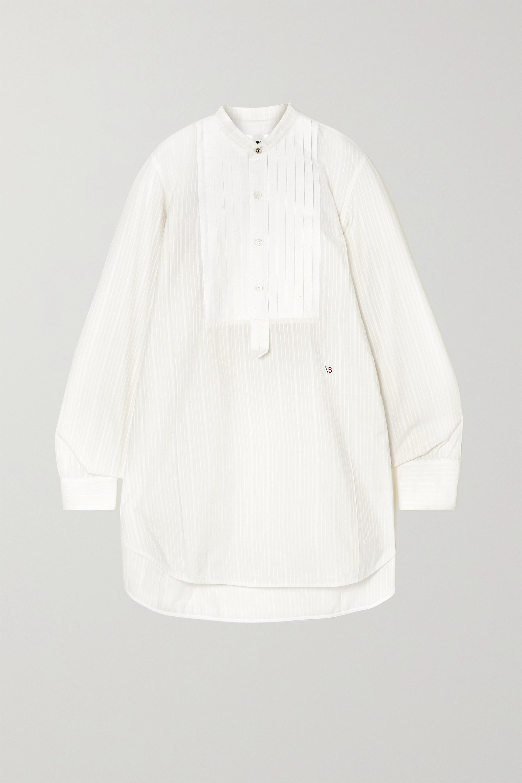 Victoria Beckham Hemd aus Baumwollpopeline mit Biesen und Stickerei