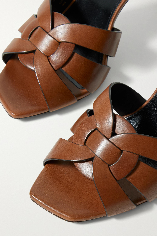 SAINT LAURENT Tribute woven leather mules