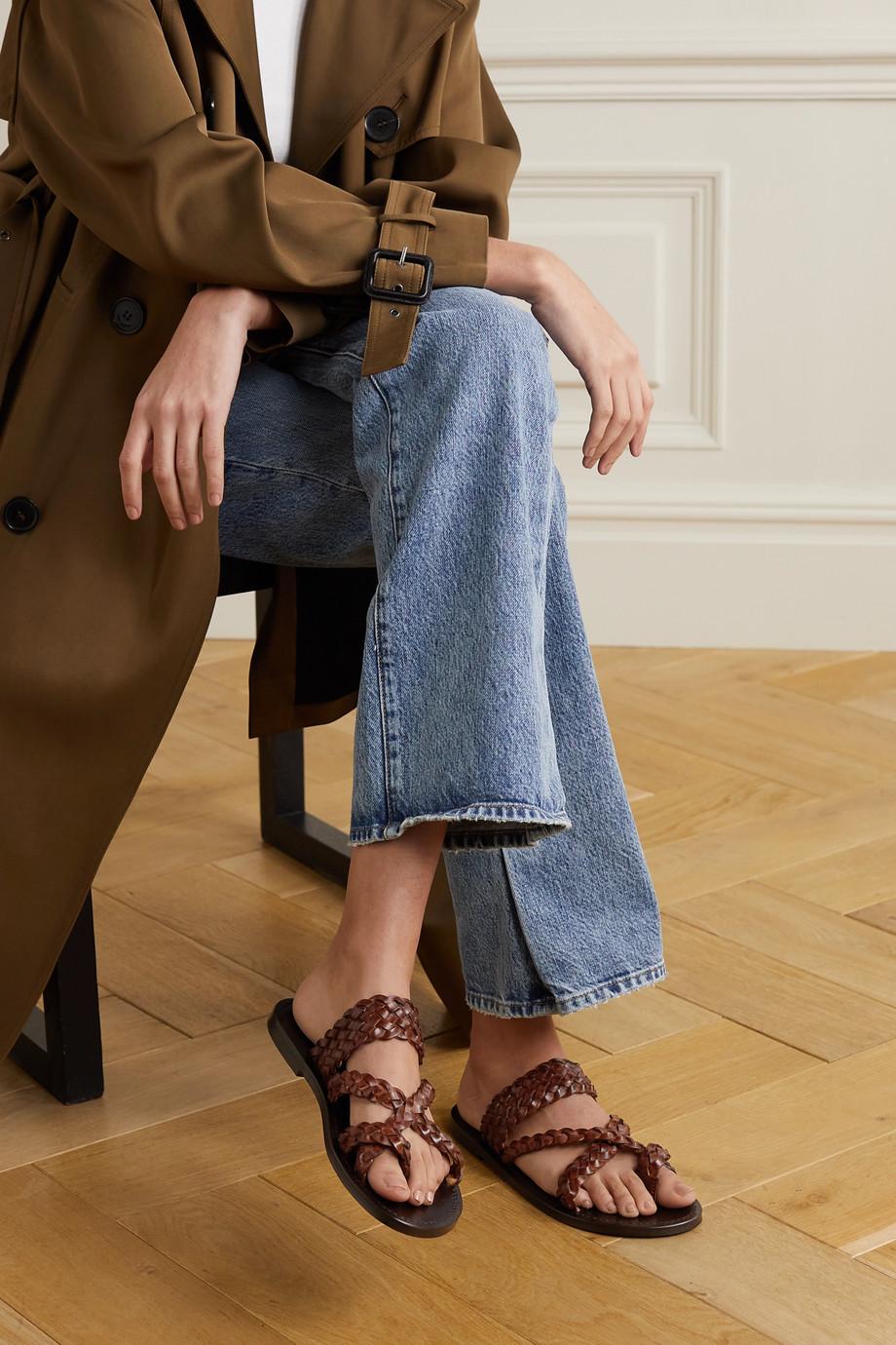 SAINT LAURENT Neil braided leather sandals