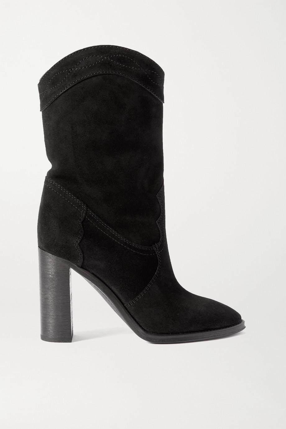 SAINT LAURENT Kate suede ankle boots