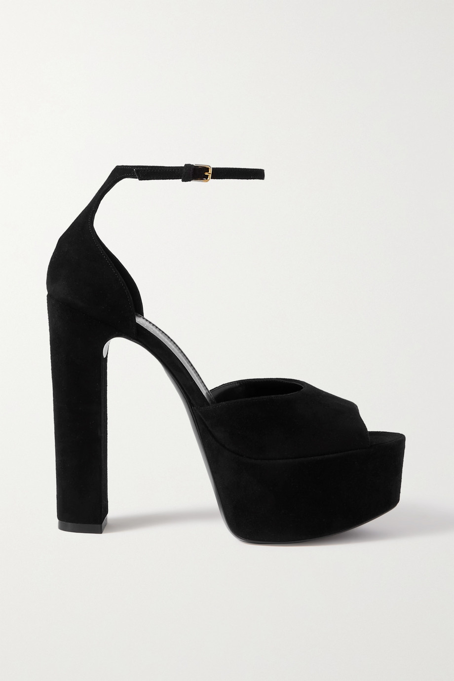 SAINT LAURENT Jodie suede platform sandals