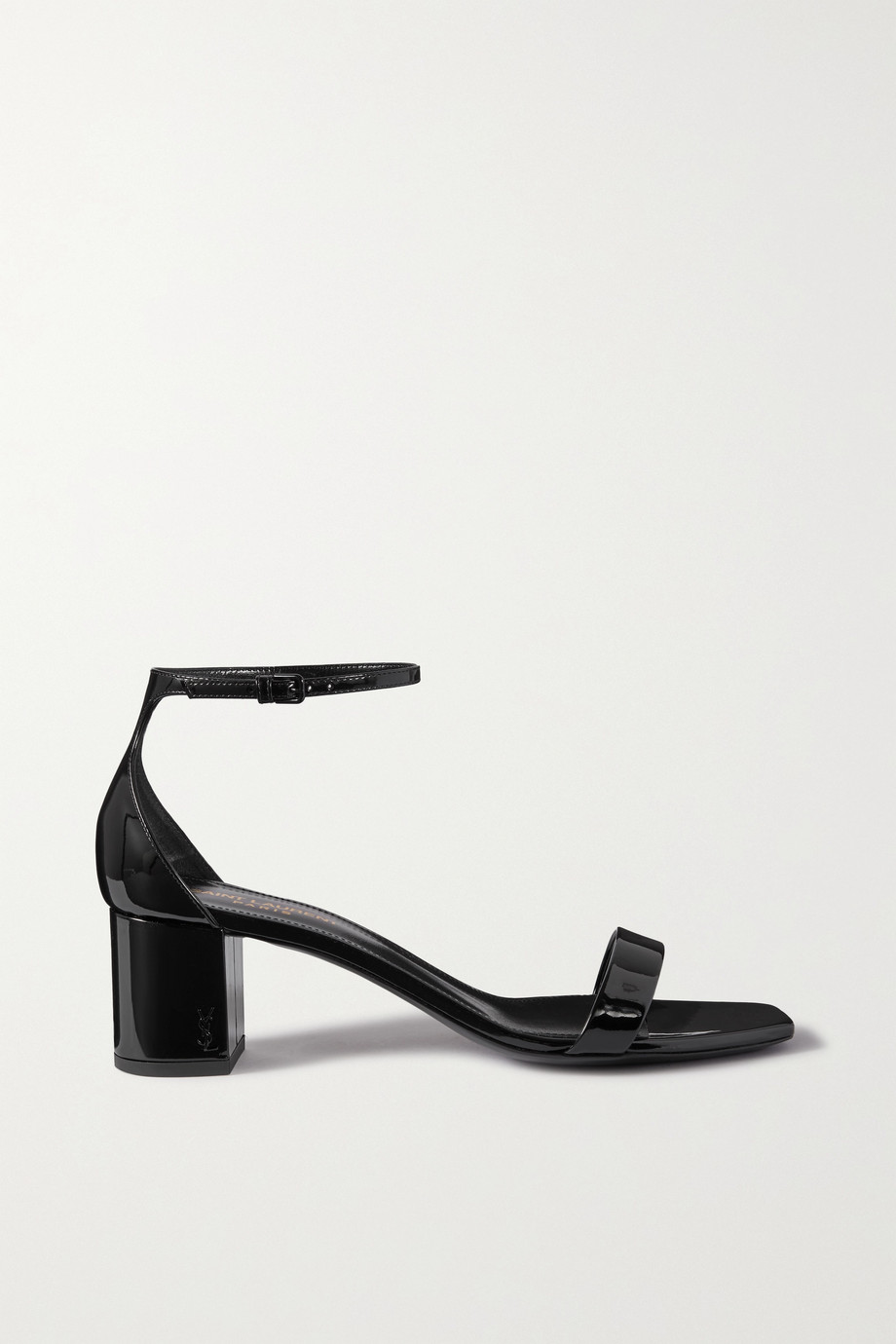 SAINT LAURENT Loulou patent-leather sandals