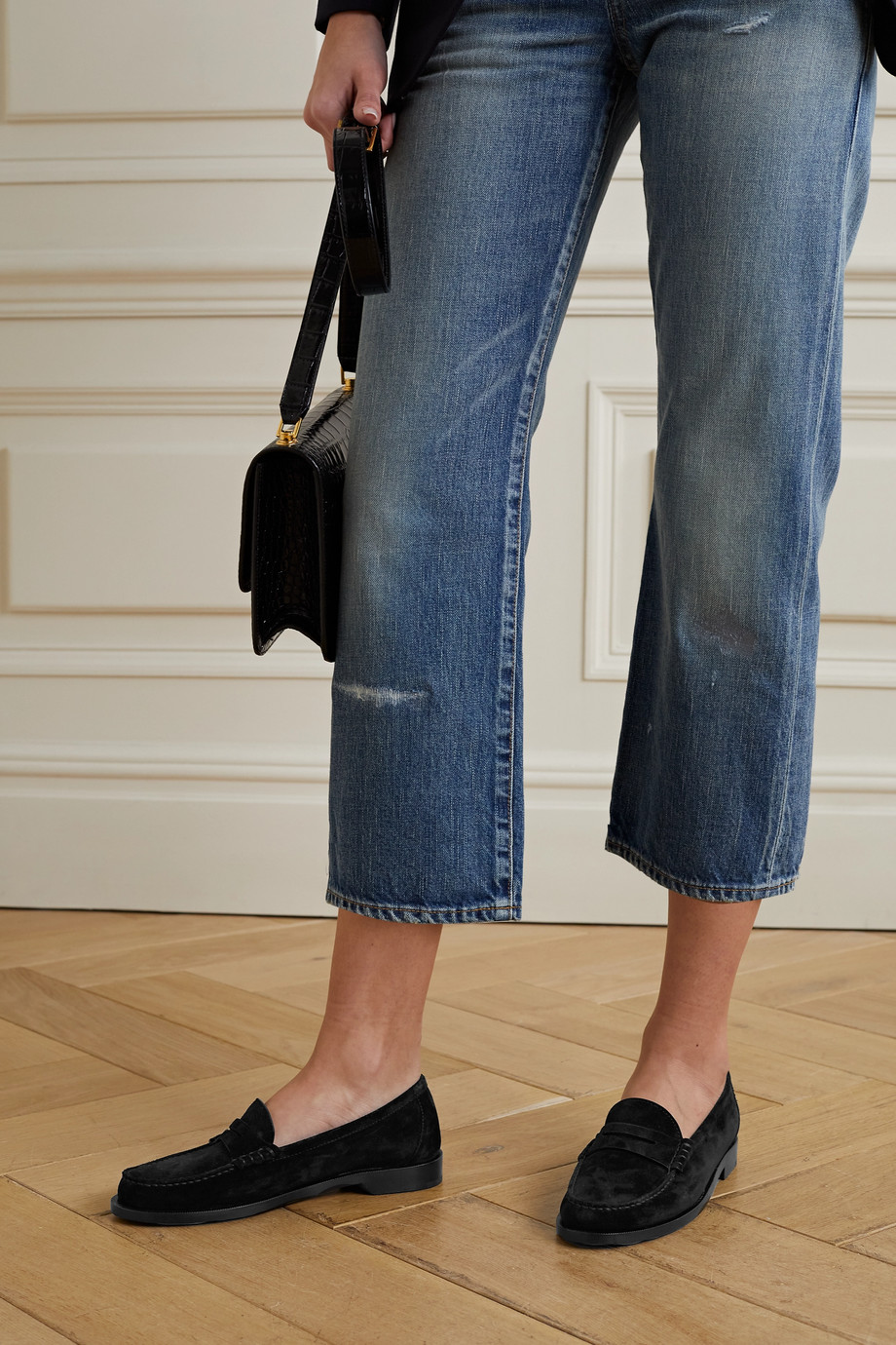 SAINT LAURENT Suede loafers