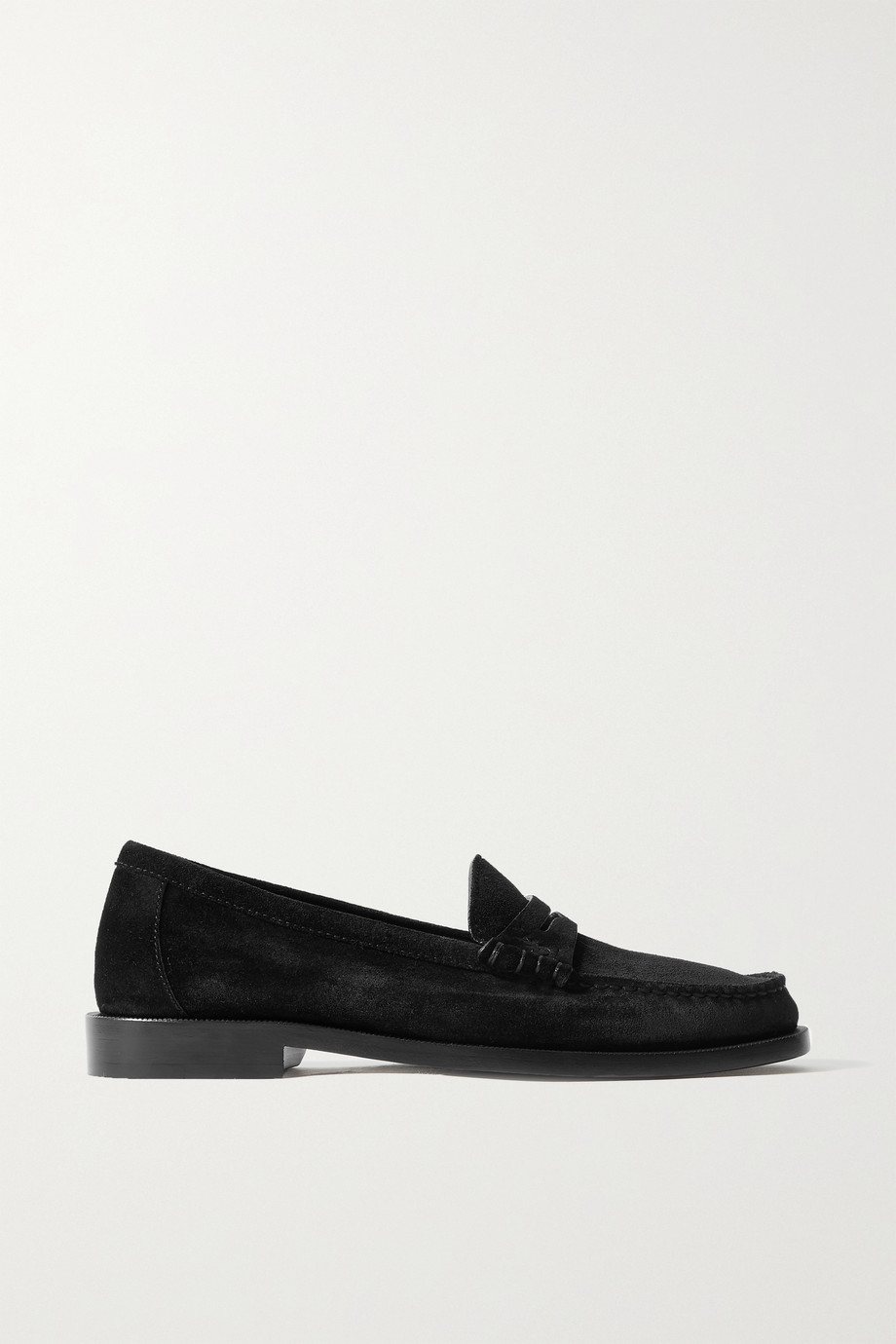 SAINT LAURENT Loafers aus Veloursleder