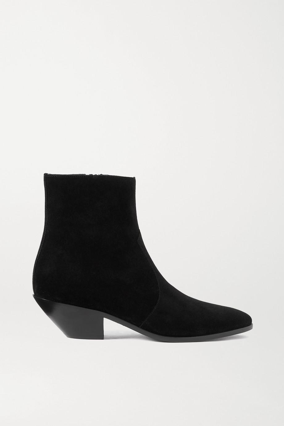 SAINT LAURENT West suede ankle boots