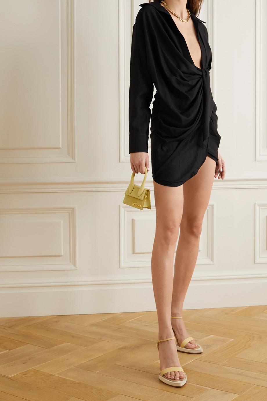 Jacquemus Bahia knotted twill mini dress