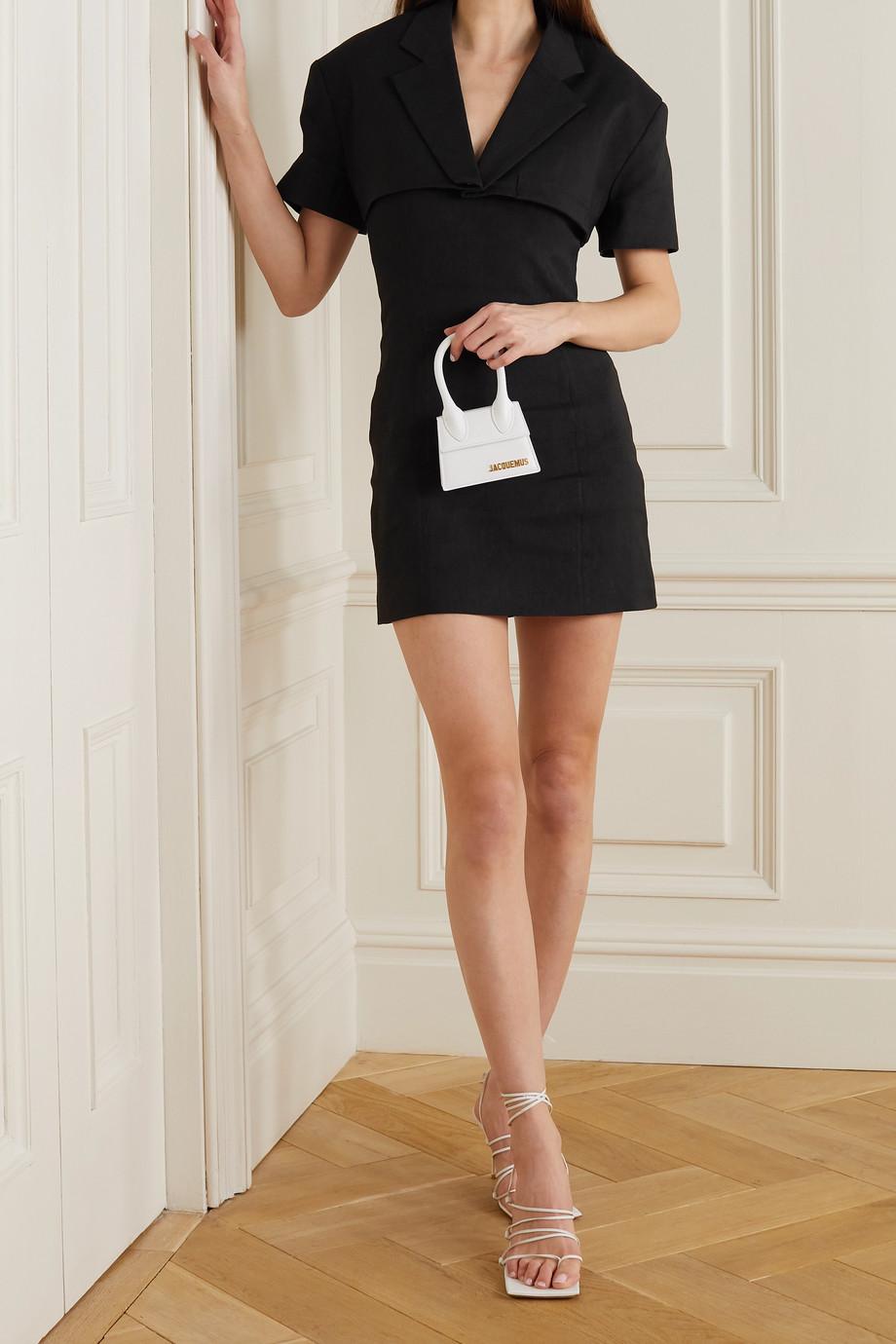 Jacquemus Gardian mehrlagiges Minikleid aus einer Hanfmischung mit Cut-out