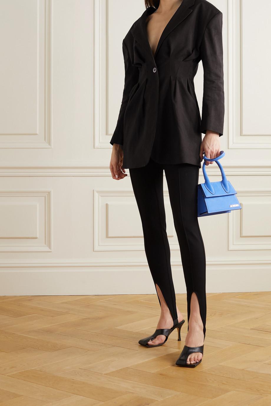 Jacquemus Camargue tie-detailed hemp-blend blazer