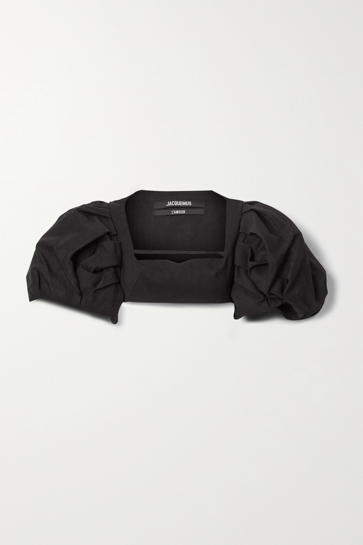 Jacquemus Camargue cropped hemp-blend top