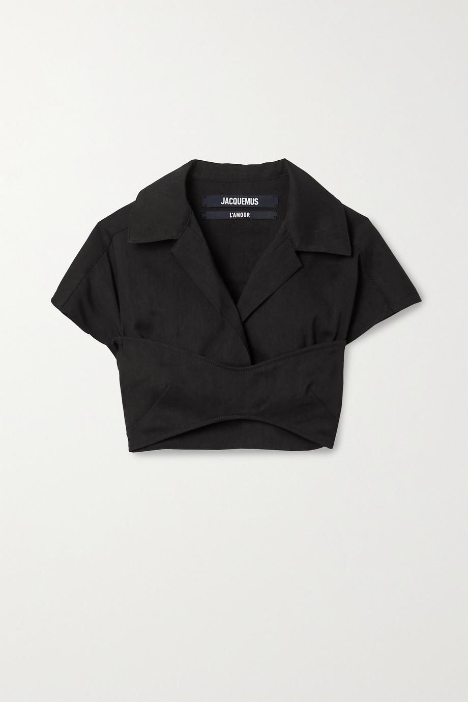 Jacquemus Cropped hemp-blend shirt