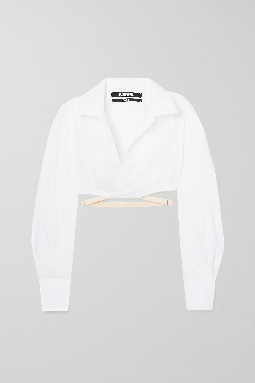 Jacquemus Laurier verkürztes Hemd aus Baumwolle mit Schnalle