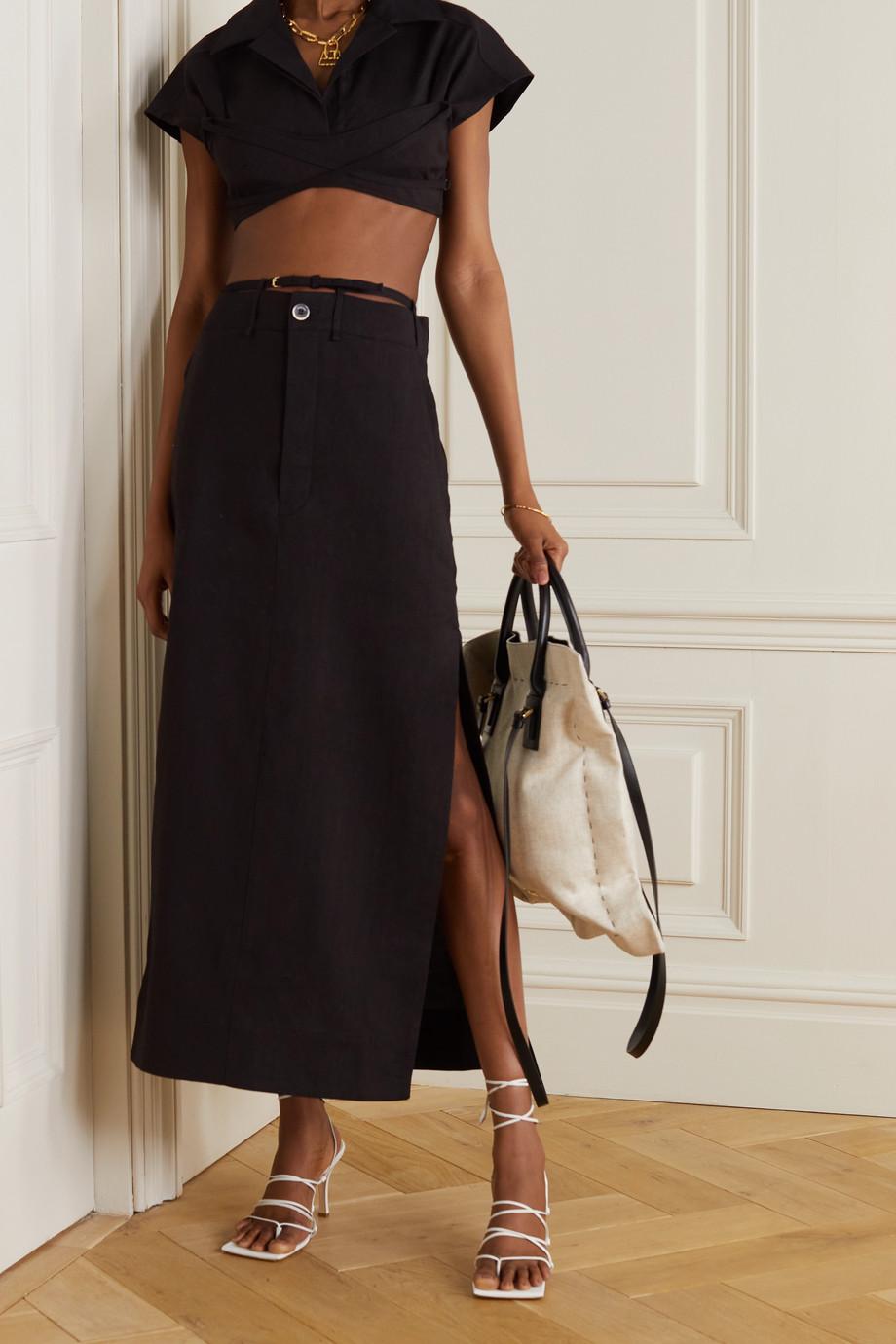 Jacquemus La Jupe Terraio hemp-blend maxi skirt