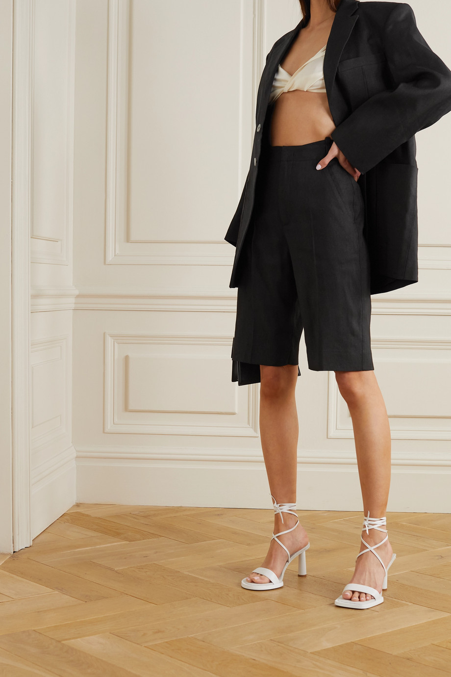 Jacquemus Gardian buckled hemp-blend shorts