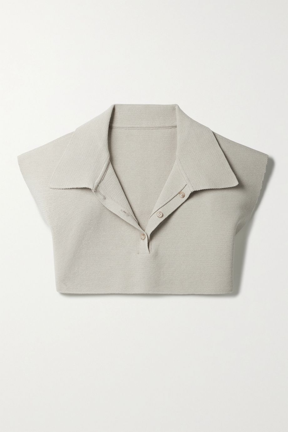 Jacquemus Santon cropped cotton-blend polo shirt