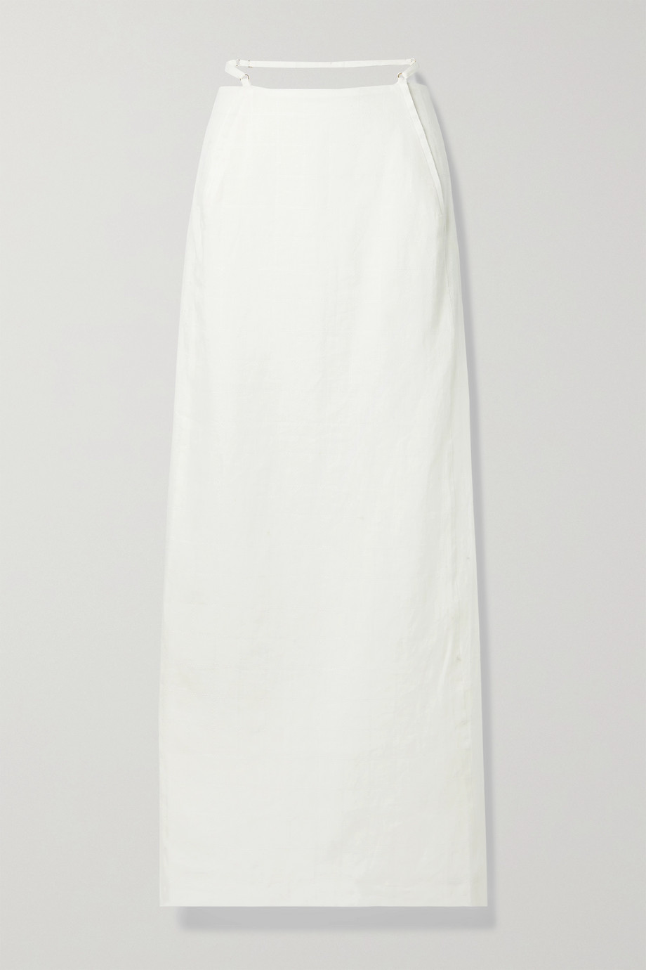 Jacquemus Novio cutout linen-jacquard maxi skirt