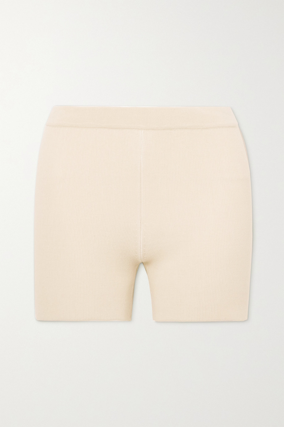 Jacquemus Arancia ribbed-knit shorts